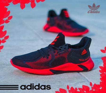 کفش Adidas مدل Adrian (مشکی قرمز )