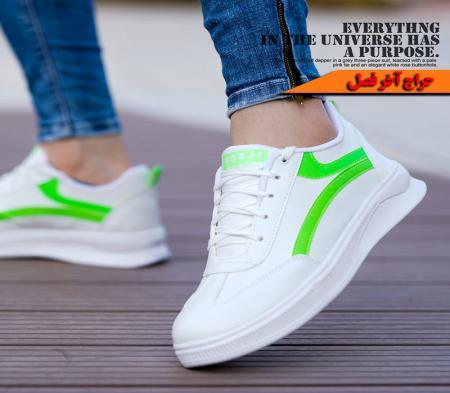 کفش مردانه Vansمدل Batecs(سفید سبز)