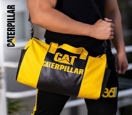ساک ورزشی CAT مدل ERPILLAR (مشکی زرد)